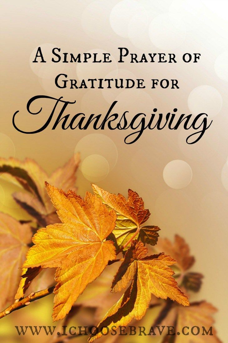 a simple prayer of gratitude this thanksgiving