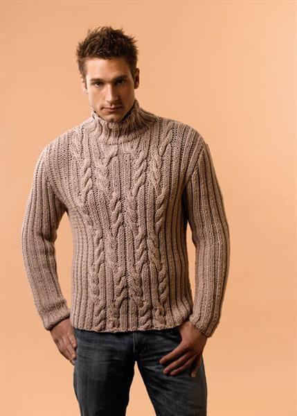 Узоры вязаных мужских свитеров