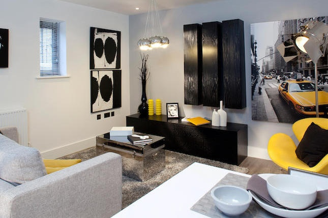 17 best images about yellow and black on pinterest david for Gray themed living room