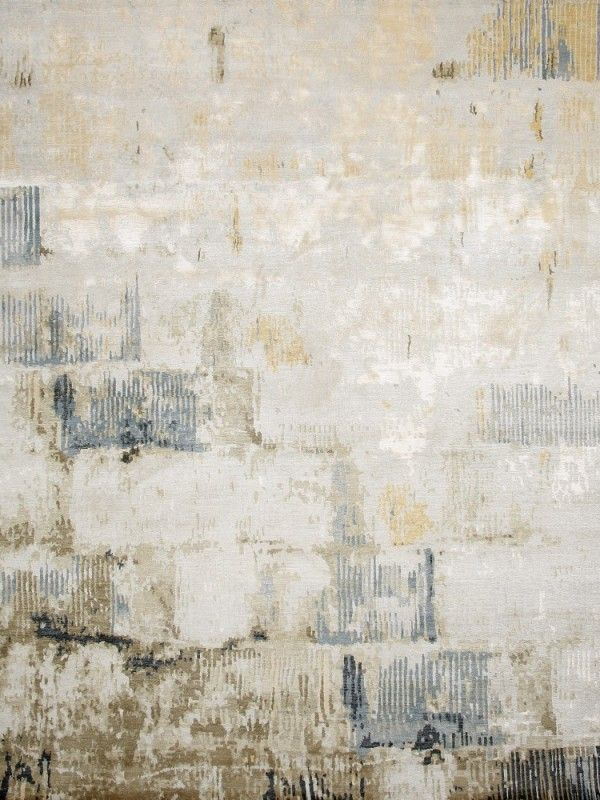 Designer Rugs - The Wall (Sky) - Wool on silk, handknoted, Nepal.