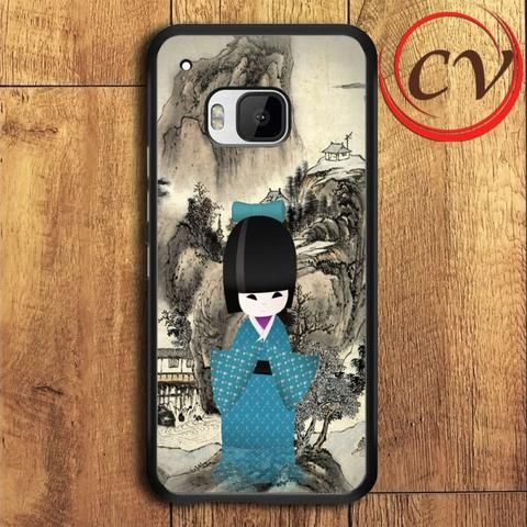 Japanese Doll HTC One M9 Plus Black Case