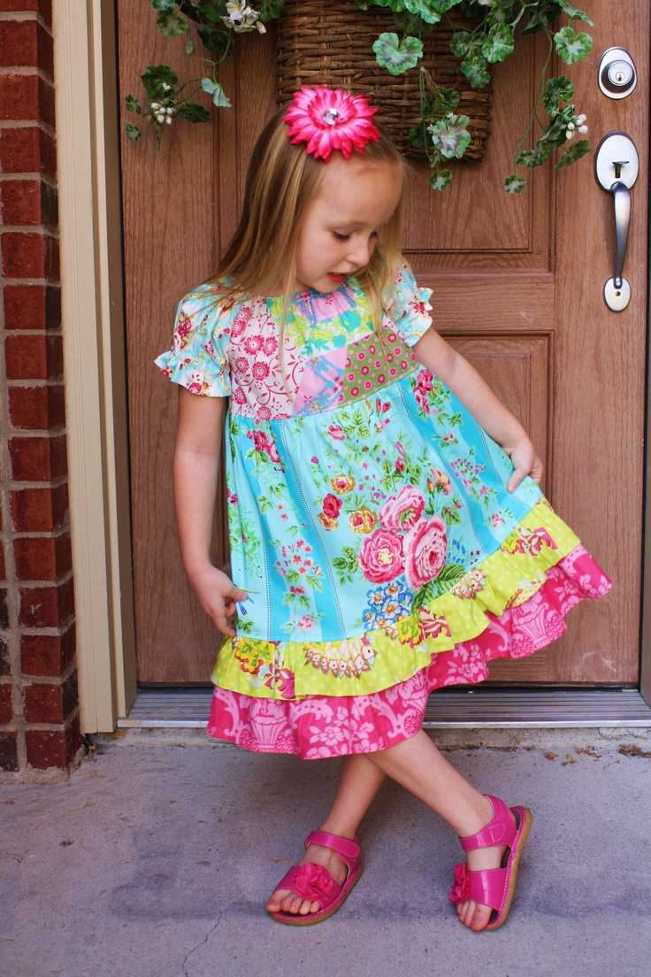 Pish Posh Girls dress.Kids Stuff, Kids Dresses, Posh, Kids Sewing, Dresses Ideas, Girls Dresses, Girls Clothing, Kids Clothing, Fiber Art