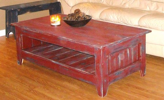 Primitive Coffee Table by RusticDeZigns on Etsy