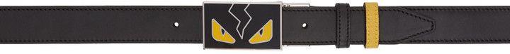 Fendi Reversible Black & Yellow 'Bag Bugs' Belt