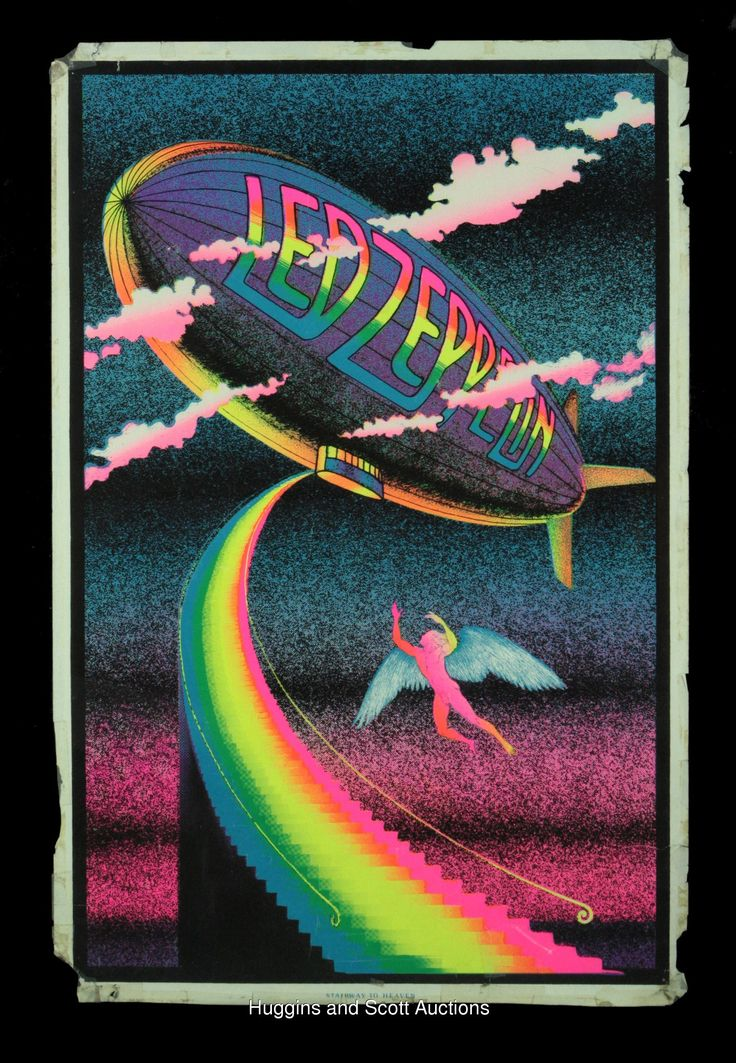 Those guys.  Early 1970s Led Zeppelin Original Black Light Posters