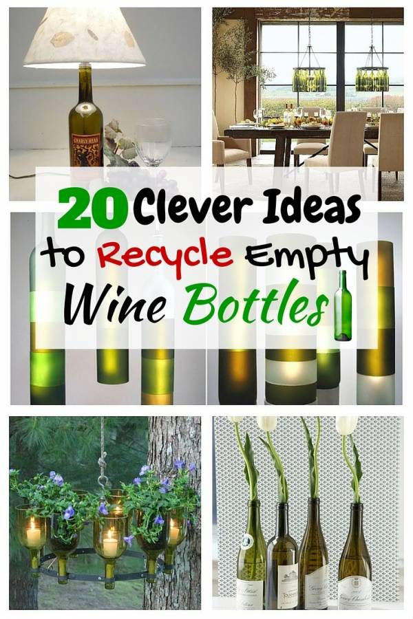 20 clever ideas to recycle empty wine bottles bottle for Creative ideas for empty wine bottles