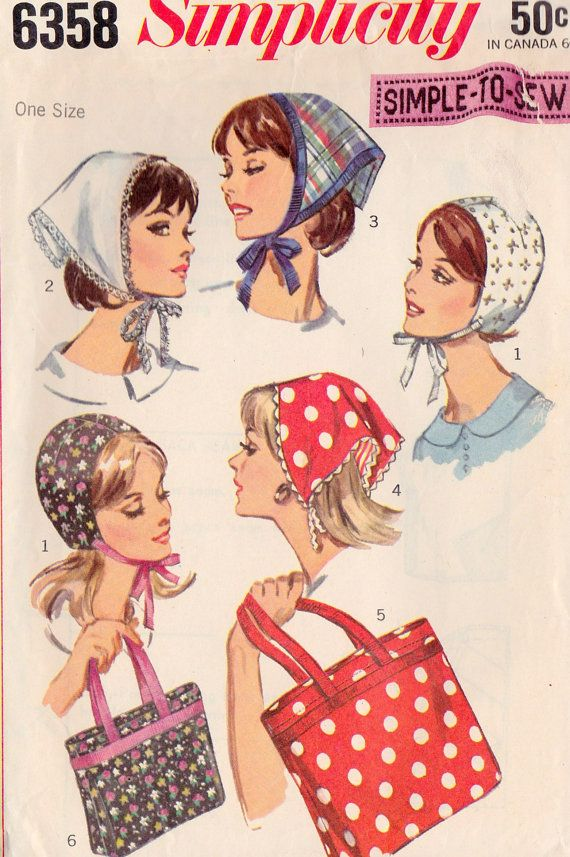 I had a few of the triangular headscarves. We could wear them tied at the front of the neck or the back of the neck.