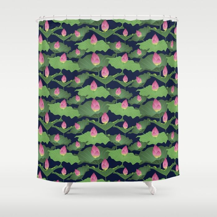 Buy Pink Blush Night Shower Curtain by okopipidesign. Worldwide shipping available at Society6.com. Just one of millions of high quality products available.