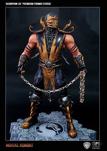 Estatua Mortal Kombat 9. Scorpion, Premium Format, Syco Collectibles, 50cm  Estatua de 50cm de altura, de Scorpion, uno de los personajes principales de la saga de videojuegos de lucha, Mortal Kombat.
