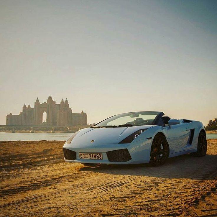Baby Blue! Lamborghini Gallardo Spyder via @1glennm