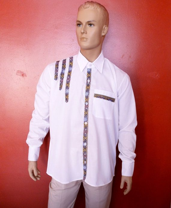 So colored art shirt dashiki for men gentlemen only; ethnic design fashion shirt must have