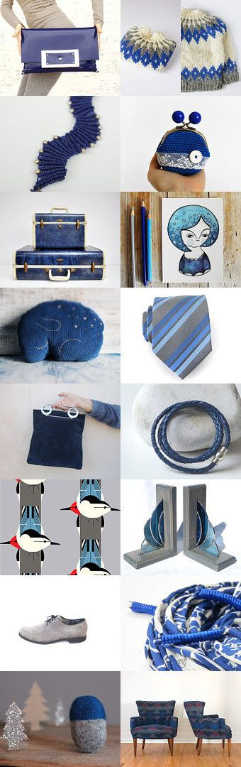 Blue and gray by Ginger Zoo and Co. on Etsy--Pinned with TreasuryPin.com Eit3000