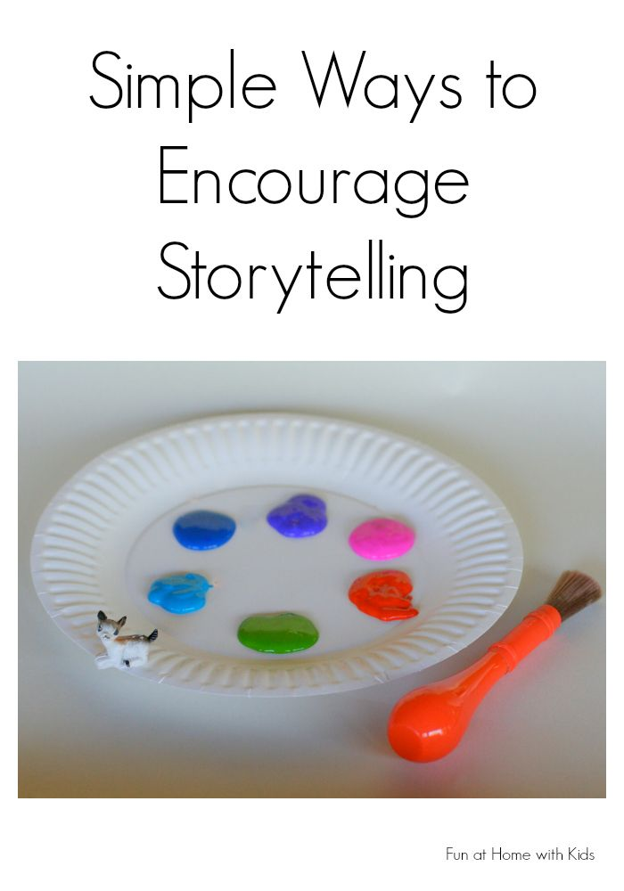 Six simple ways to encourage storytelling with your little one from Fun at Home with Kids