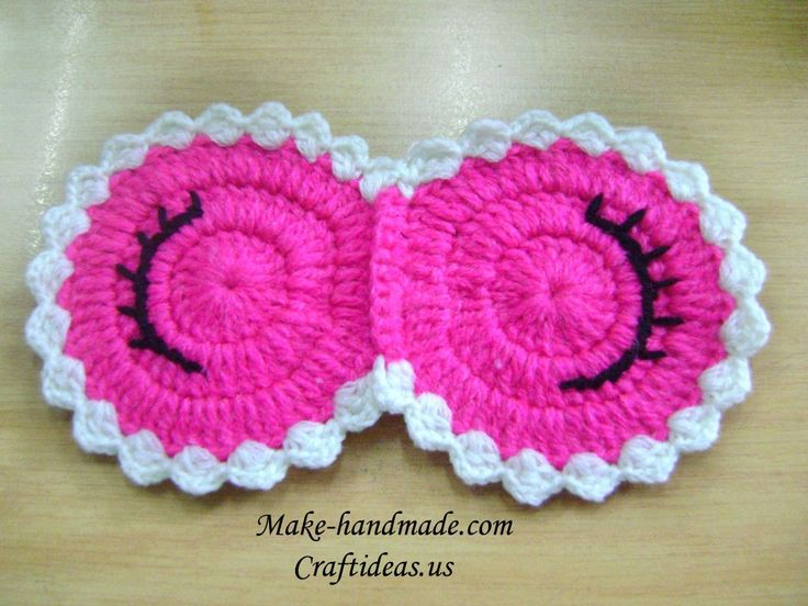 Crochet sleeping mask - Craft Ideas - Crafts for Kids - HobbyCraft