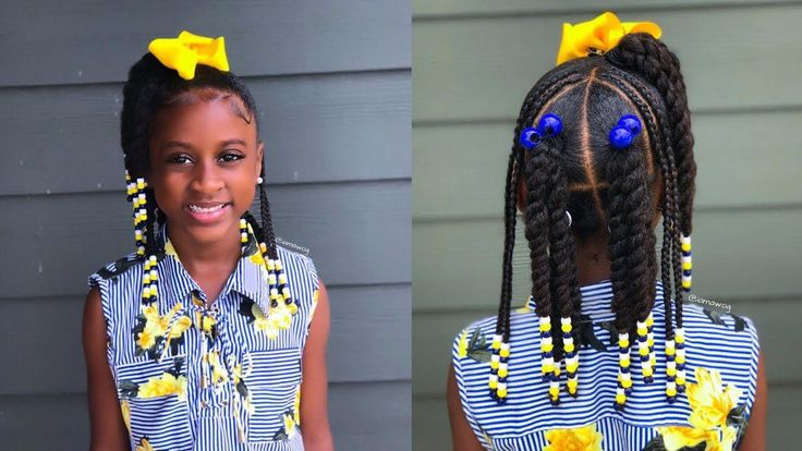 Twist, Braids & Beads | Kids Natural Hairstyle | IAMAWOG – YouTube #Naturalhairs…