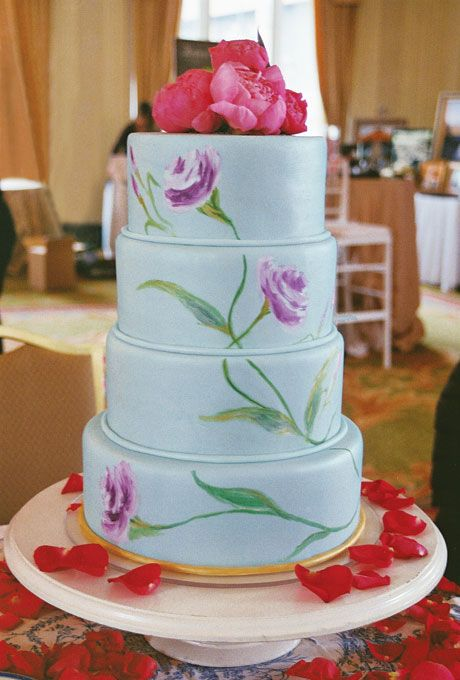 73 best images about wedding cake on Pinterest Marriage Painted