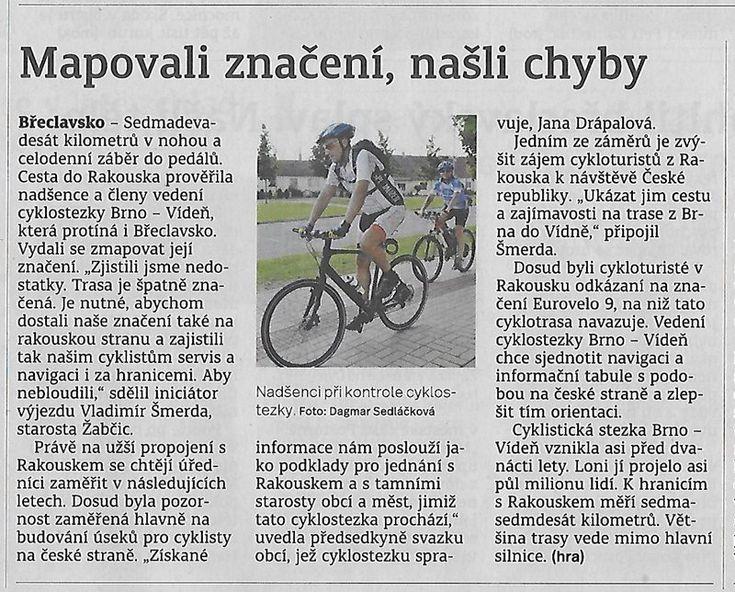 Cyklostezka Brno-Vídeň - Cyklistická stezka Brno-Vídeň