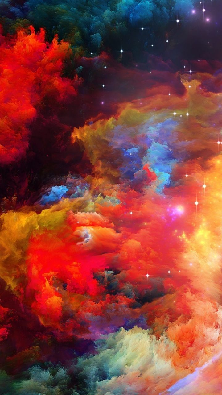 Abstract Rainbow Color Explosion 720x1280 Wallpaper