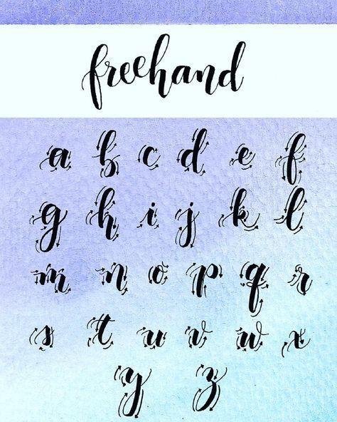 Ich wurde ein paar Mal gefragt, wie ich meine Freihand-Kalligraphie mache, also