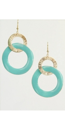 turquoise12 50, Colors Combos, Turquoise Earrings, Turquoise Jewelry, Accessories, Earrings Jewelry, Accessorizing, 1250, Gold Earrings