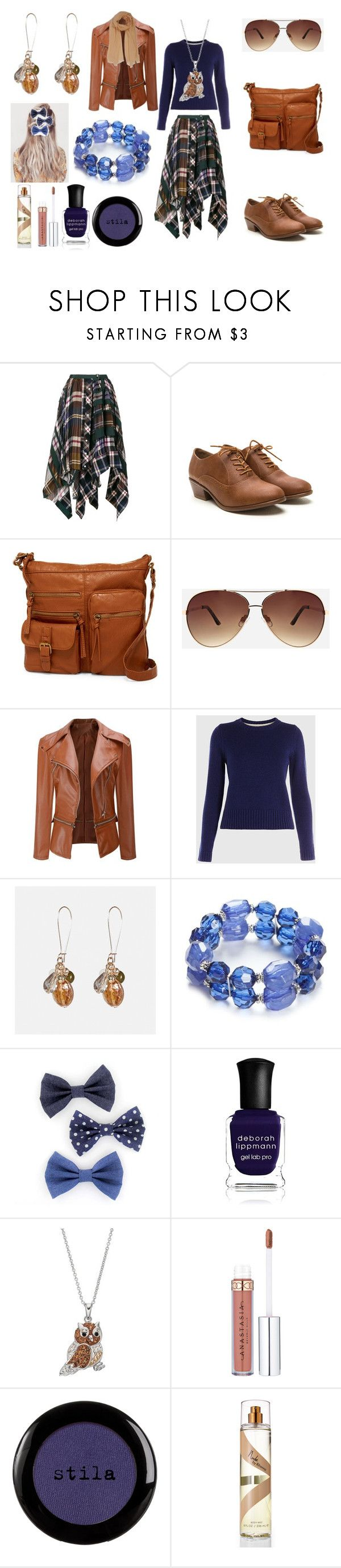 """Cute Fall Outfit for School"" by holly32196-1 ❤ liked on Polyvore featuring Sacai, Bueno, Ashley Stewart, WithChic, Avenue, Kim Rogers, Deborah Lippmann and Stila"