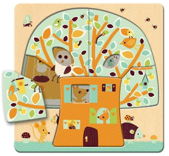 Djeco - Tree House Layer Puzzle A gorgeous design with multi elements! #EntropyWishList #PinToWin