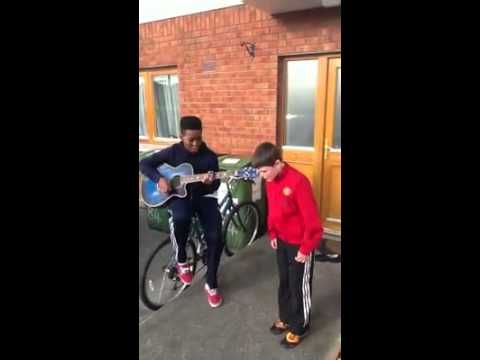 2 young irish boys do an acoustic version of rihannas we found love! They are amazing and one of them adds his own written rap! The young lad in red and singing is 11 yo Robert Scanlon living in Celbridge Co. Kildare Ireland.