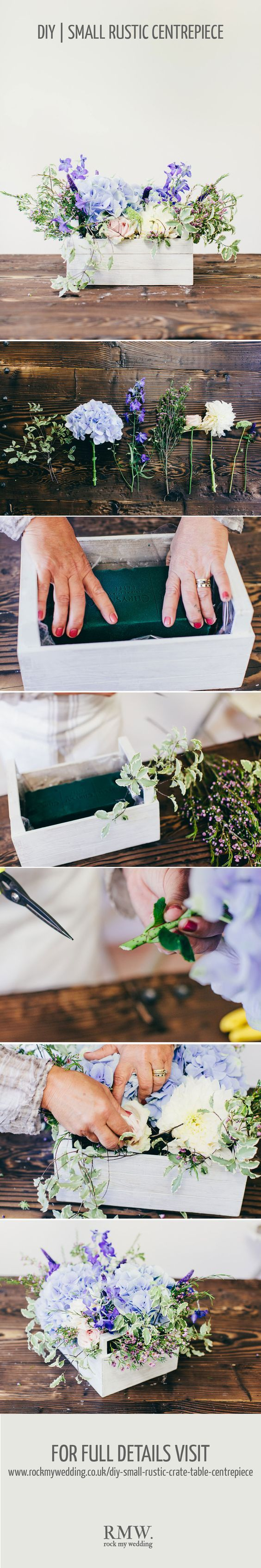 Rustic crate wedding centrepiece DIY tutorial / http://www.himisspuff.com/diy-wedding-centerpieces-on-a-budget/42/