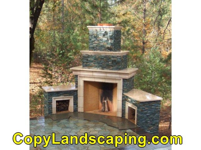 Awesome  outdoor fireplace unilock