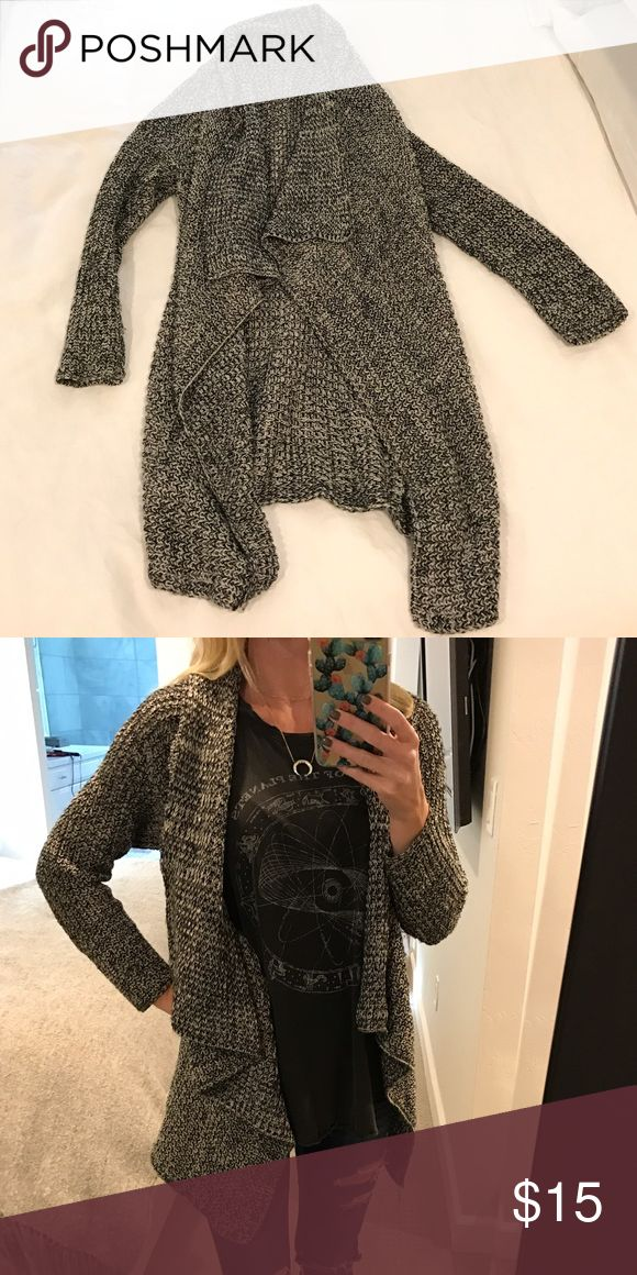 Black and grey cardigan Brandy Melville cardigan. Really comfy. Gently worn a few times. Brandy Melville Sweaters Cardigans