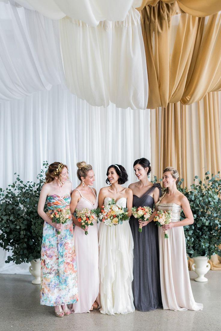 Vintage pearl bridal blog real brides news amp updates wedding - Bride Mismatched Bridesmaids Photography Alexis June Weddings
