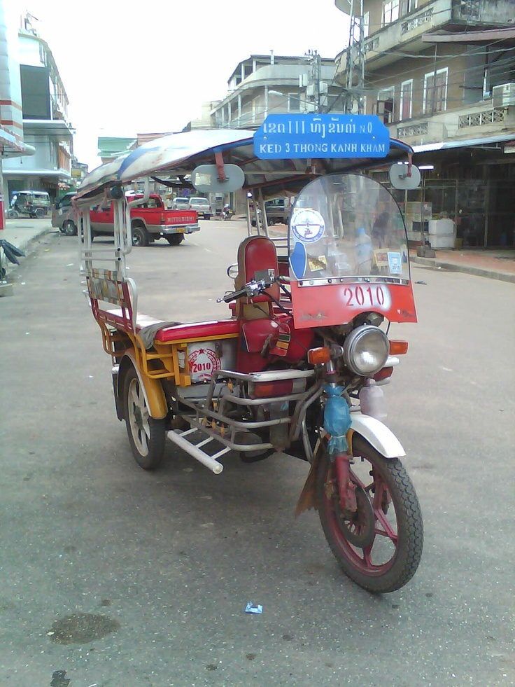 Tricycle Bike in Vientiane, LAO PDR.