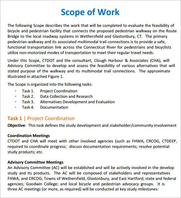 Image result for scope of work proposal