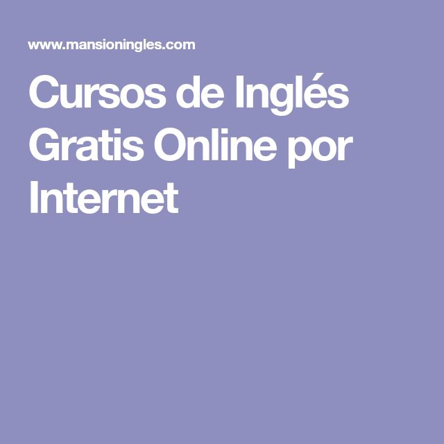 Cursos de Inglés Gratis Online por Internet
