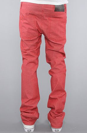 The Skinny Guy Jeans in Red Stretch Wash by Naked & Famous.  Want in the Weird Guy cut.