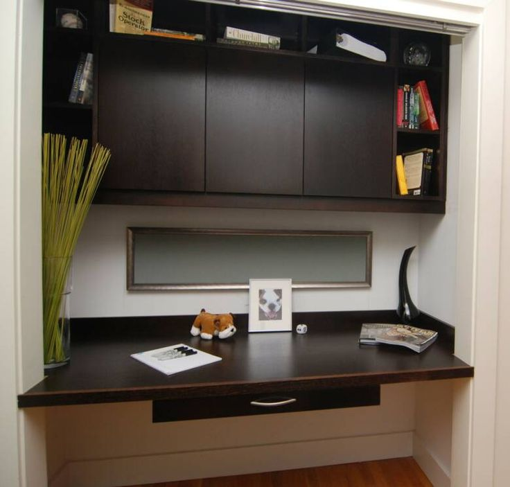 Desk Built Into Closet - Home Design