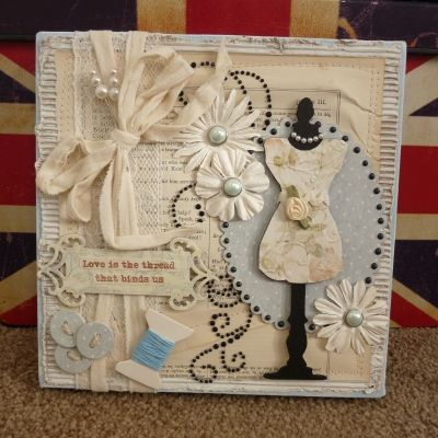 Snip & Stitch: Love Is The Thread Canvas