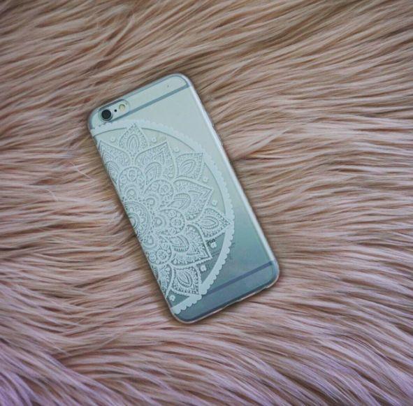 White Daisy Henna Mobile Phone Case