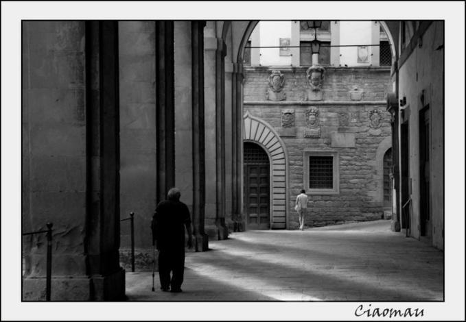 Old silent corner in Arezzo.