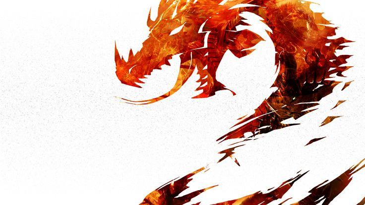 Red Dragon On White Wallpaper HD Wallpaper   WallpaperLepi