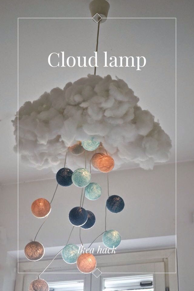 Cloud lamp Ikea hack | IKeA HACkS | Cloud lamp, Kid beds e ...