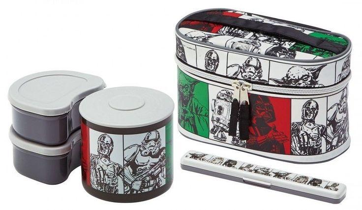 Star Wars Lunch Box Lunchbox Warm jar 840ml With chopstick case KCLJ9DX Bento #Skater