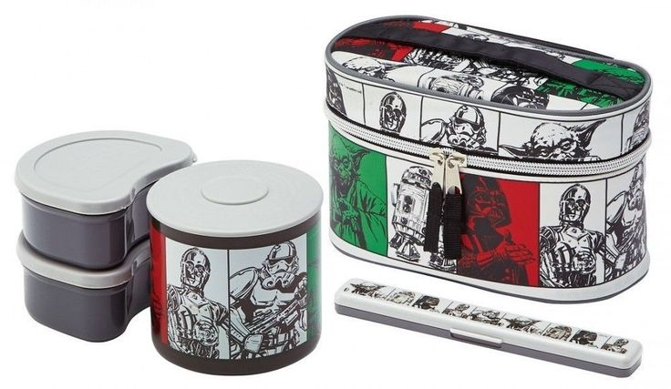 Star Wars Lunch Box Lunchbox Warm jar 840ml With chopstick case KCLJ9DX Bento #Skater