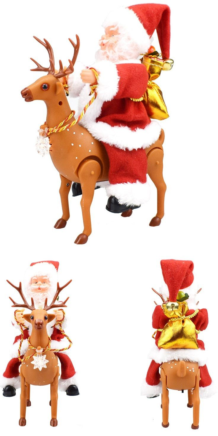 Electric Santa Creative Music Dancing Doll Christmas Decoration For Xmas Gifts
