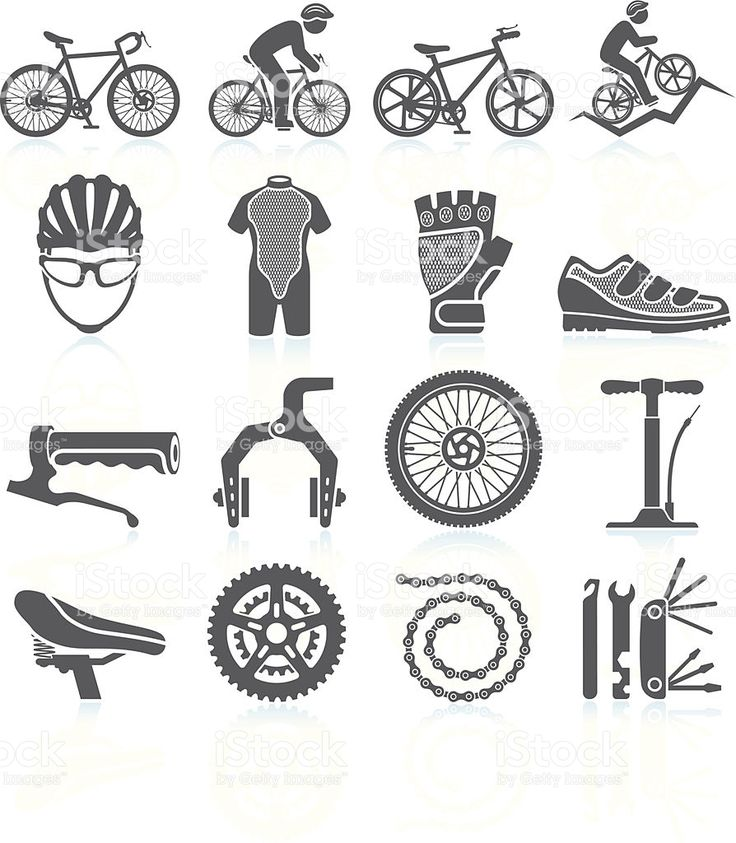 Cycling Racing black & white royalty free vector icon set royalty-free cycling racing black white royalty free vector icon set stock vector art & more images of bicycle