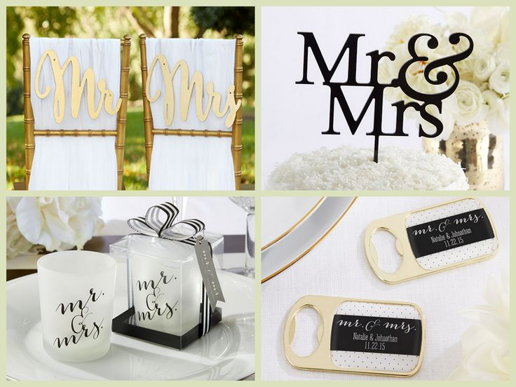 Mr. & Mrs. Wedding Favors from HotRef.com