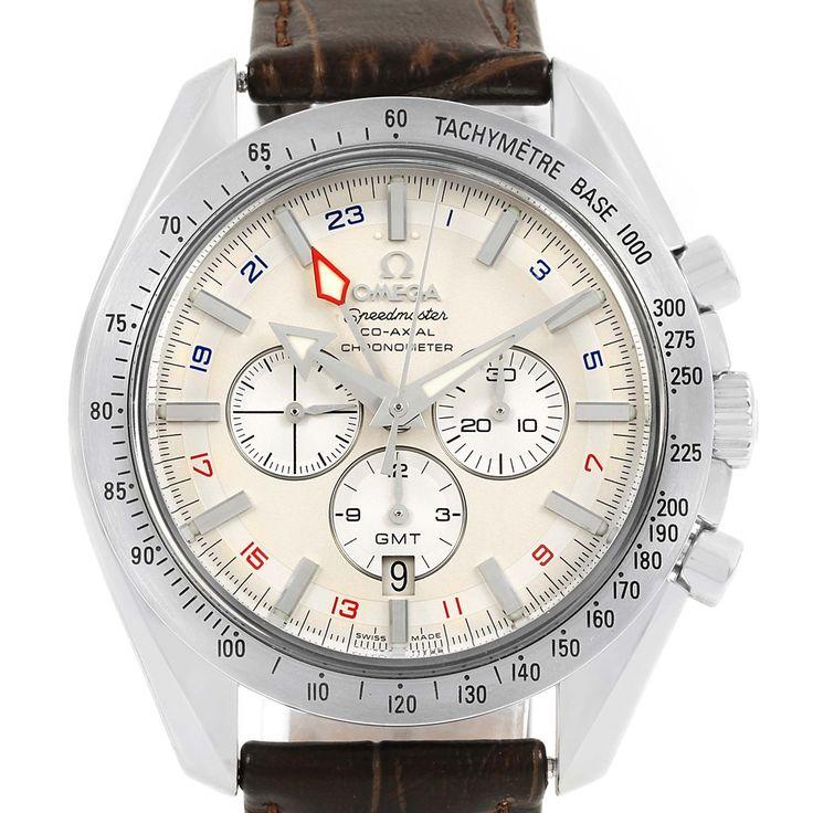 14709 Omega Speedmaster Broad Arrow GMT Mens Watch 3881.30.37 SwissWatchExpo