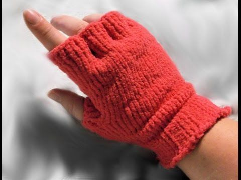 How to Loom Knit Half Finger Gloves, My Crafts and DIY Projects