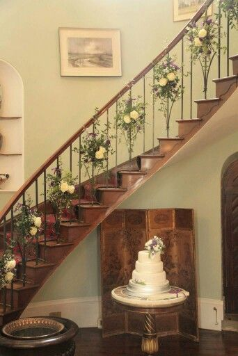 Homme house wedding flowers 2 May 15. A beautiful addition to a staircase and could be a decoration to use throughout the year maybe