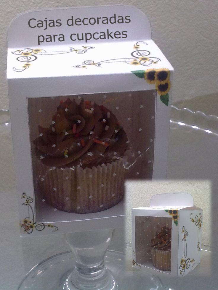 Cajas decoradas para Cupcakes